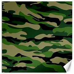 Green Military Vector Pattern Texture Canvas 16  X 16  by Samandel