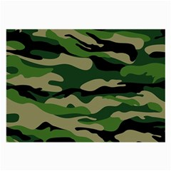 Green Military Vector Pattern Texture Large Glasses Cloth (2 Side)