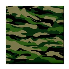 Green Military Vector Pattern Texture Face Towel