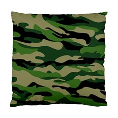 Green Military Vector Pattern Texture Standard Cushion Case (one Side)