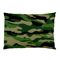 Green Military Vector Pattern Texture Pillow Case (two Sides)