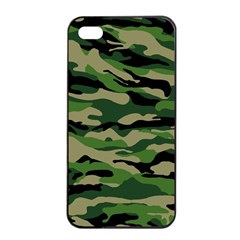 Green Military Vector Pattern Texture Apple Iphone 4/4s Seamless Case (black) by Samandel