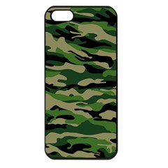 Green Military Vector Pattern Texture Apple Iphone 5 Seamless Case (black)