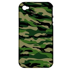 Green Military Vector Pattern Texture Apple Iphone 4/4s Hardshell Case (pc+silicone) by Samandel