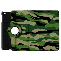 Green Military Vector Pattern Texture Apple Ipad Mini Flip 360 Case by Samandel
