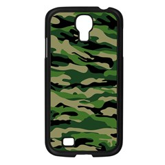 Green Military Vector Pattern Texture Samsung Galaxy S4 I9500/ I9505 Case (black)