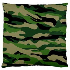 Green Military Vector Pattern Texture Large Flano Cushion Case (two Sides)