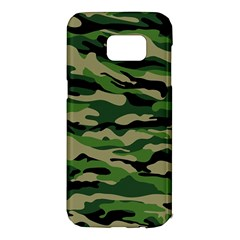 Green Military Vector Pattern Texture Samsung Galaxy S7 Edge Hardshell Case