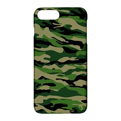 Green Military Vector Pattern Texture Apple Iphone 7 Plus Hardshell Case by Samandel