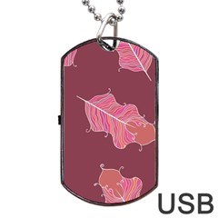 Plumelet Pen Ethnic Elegant Hippie Dog Tag Usb Flash (one Side)