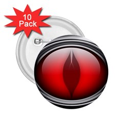 Red Eye 2 25  Buttons (10 Pack)