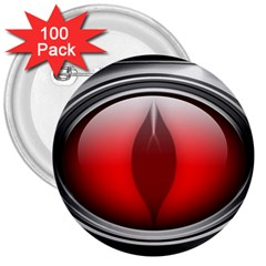 Red Eye 3  Buttons (100 Pack)