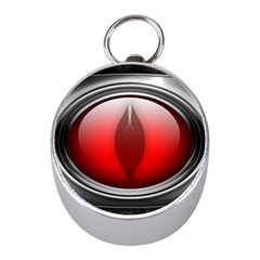 Red Eye Mini Silver Compasses