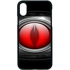 Red Eye Apple Iphone X Seamless Case (black)
