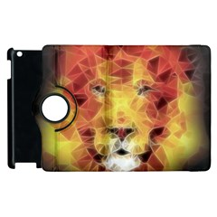 Fractal Lion Apple Ipad 3/4 Flip 360 Case