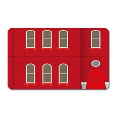 Red House Magnet (rectangular)