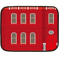 Red House Double Sided Fleece Blanket (mini)