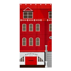 Red House Shower Curtain 36  X 72  (stall)