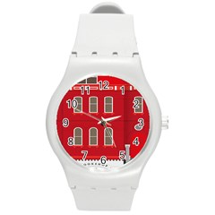 Red House Round Plastic Sport Watch (m)