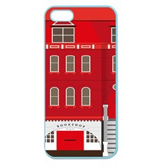 Red House Apple Seamless Iphone 5 Case (color)