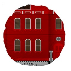 Red House Large 18  Premium Round Cushions by Samandel
