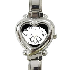 Pig Logo Heart Italian Charm Watch by Samandel