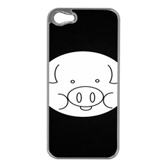 Pig Logo Apple Iphone 5 Case (silver) by Samandel
