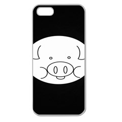 Pig Logo Apple Seamless Iphone 5 Case (clear) by Samandel