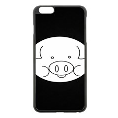 Pig Logo Apple Iphone 6 Plus/6s Plus Black Enamel Case