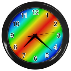 Background Diagonal Refraction Wall Clock (black)