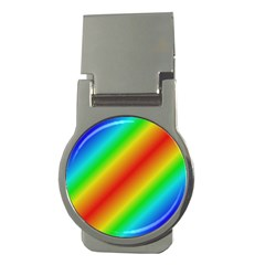 Background Diagonal Refraction Money Clips (round)