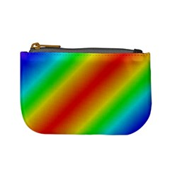Background Diagonal Refraction Mini Coin Purse