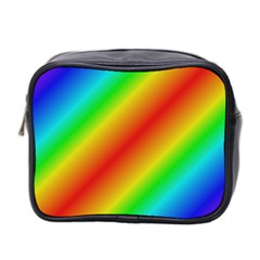 Background Diagonal Refraction Mini Toiletries Bag (two Sides) by Samandel