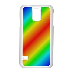 Background Diagonal Refraction Samsung Galaxy S5 Case (white)