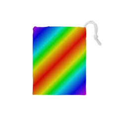 Background Diagonal Refraction Drawstring Pouch (small)