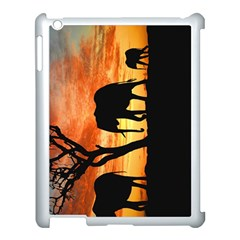 Family Of African Elephants Apple Ipad 3/4 Case (white)