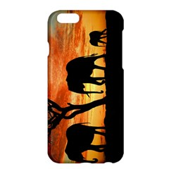 Family Of African Elephants Apple Iphone 6 Plus/6s Plus Hardshell Case by Samandel