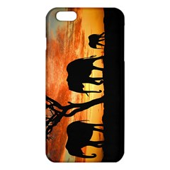 Family Of African Elephants Iphone 6 Plus/6s Plus Tpu Case by Samandel