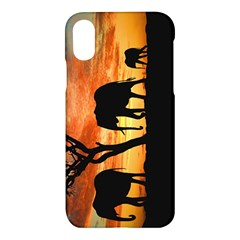 Family Of African Elephants Apple Iphone X Hardshell Case