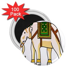 Elephant Indian Animal Design 2 25  Magnets (100 Pack)