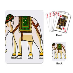 Elephant Indian Animal Design Playing Cards Single Design by Samandel