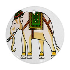 Elephant Indian Animal Design Round Ornament (two Sides)