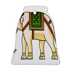 Elephant Indian Animal Design Bell Ornament (two Sides)