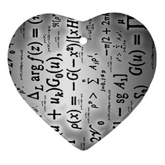 Science Formulas Ornament (heart)