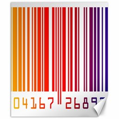 Colorful Gradient Barcode Canvas 20  X 24