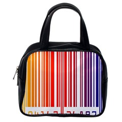Colorful Gradient Barcode Classic Handbag (one Side)