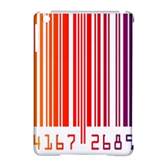Colorful Gradient Barcode Apple Ipad Mini Hardshell Case (compatible With Smart Cover)