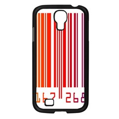 Colorful Gradient Barcode Samsung Galaxy S4 I9500/ I9505 Case (black)