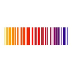 Colorful Gradient Barcode Satin Scarf (oblong)
