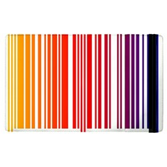 Colorful Gradient Barcode Apple Ipad Pro 9 7   Flip Case